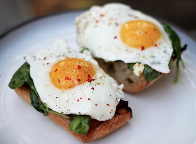 Egg, Prosciutto and Gruyere Tartine by The DinnerClub